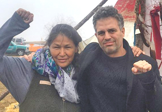 Actor Mark Ruffalo in ND to oppose pipeline