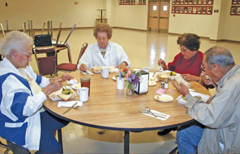 Delaware tribal elders gather for lunch each week at the Delaware Community Center in Bartlesville, Okla. PHOTO BY JAMI CUSTER / CHEROKEE PHOENIX